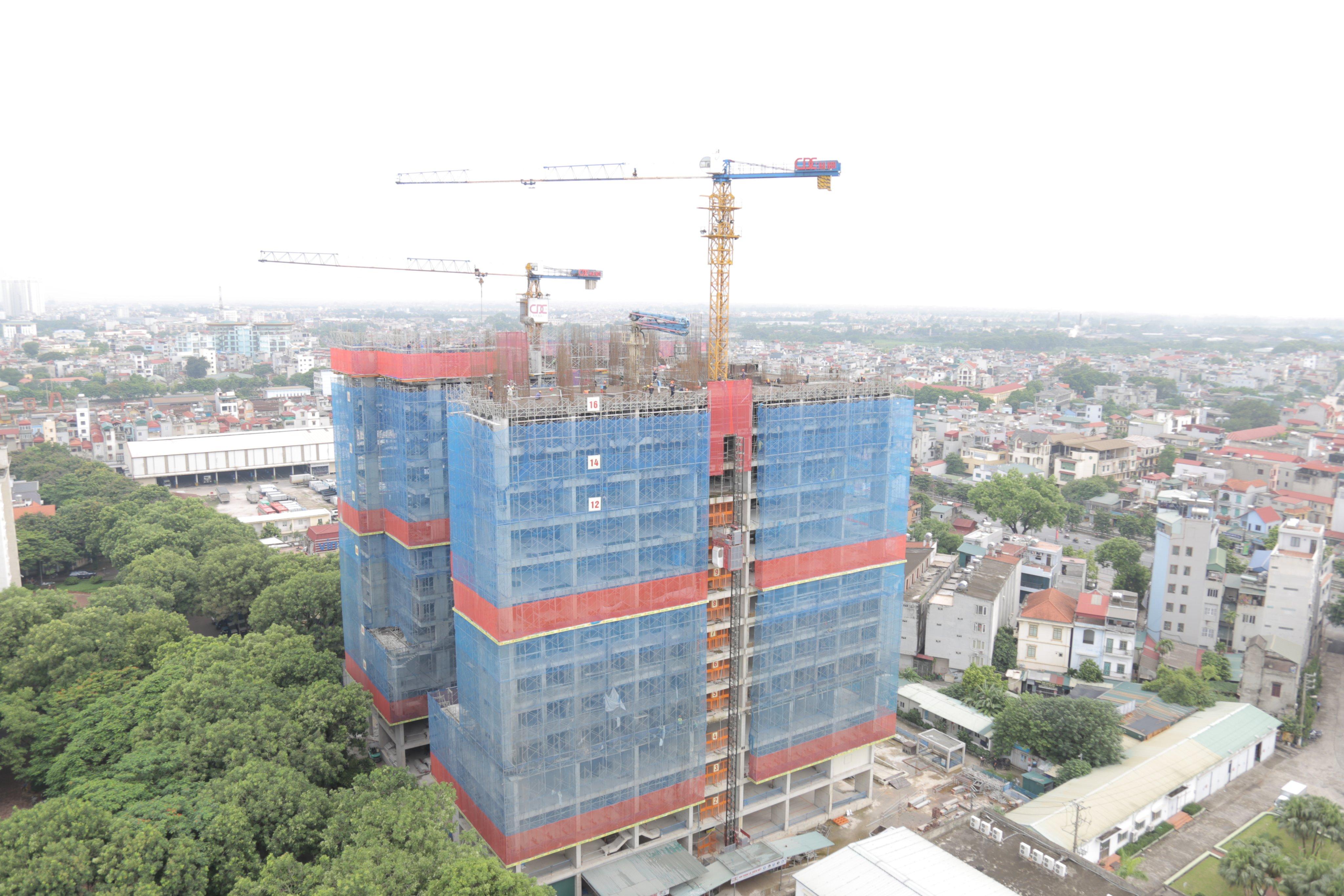 Tiến độ xây dựng Athena Complex Pháp Vân tháng 8/2020